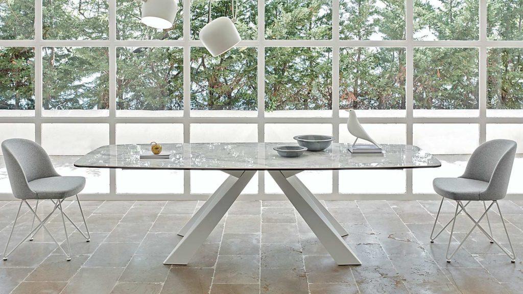 tavolo keramic arabescato lucido friulsedie