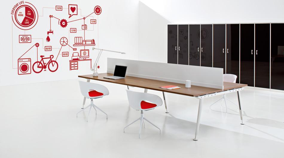 ufficio operativo con mobili collezione kayo di archiutti