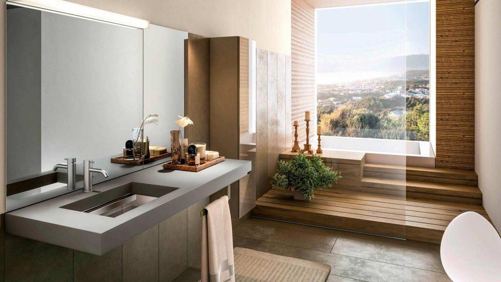 bagno arredato con mobili