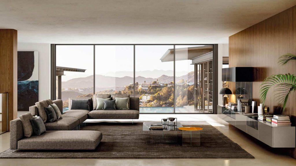living room con divani