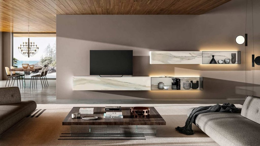 living room con mobili LAGO